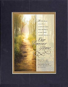 GoodOldSaying - Poem for Bereavement - Our Forever Home . . . on 8x10 Biblical Verse set in Double Mat (Black On Gold)- A Priceless Poetry Keepsake Collection