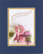GoodOldSaying - Poem for Love & Marriage - Love is what happens when you follow your heart . . . on 8x10 Biblical Verse set in Double Mat (Blue On Gold) - A Priceless Poetry Keepsake Collection