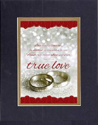 GoodOldSaying - Poem for Love & Marriage - Love must be sincere . . . on 8x10 Biblical Verse set in Double Mat (Black On Gold) - A Priceless Poetry Keepsake Collection