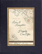 GoodOldSaying - Poem for Love & Marriage - Happily Ever After (Philippians 1:7, NIV) . . . 8x10 Biblical Verse set in Double Mat (Black On Gold) - A Priceless Poetry Keepsake Collection