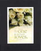 GoodOldSaying - Poem for Love & Marriage - The One My Heart Loves (Song of Solomon 3:4, NIV) . . . 8x10 Biblical Verses set in Double Mat (Black On White) - A Priceless Poetry Keepsake Collection