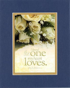 GoodOldSaying - Poem for Love & Marriage - The One My Heart Loves (Song of Solomon 3:4, NIV) . . . 8x10 Biblical Verse in Double Mat (Blue On Gold) - A Timeless Poetry Keepsake Collection