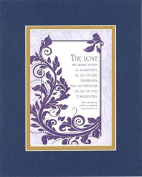 GoodOldSaying - Poem for Love & Marriage - The Love We Share (Song of Solomon 5:16) . . . 8x10 Biblical Verse set in Double Mat (Blue On Gold) - A Priceless Poetry Keepsake Collection