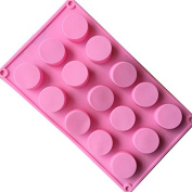 Always Your Chef 15-Cavity Cylinder Mini Cake Moulds/Soap Moulds/Chocolate Moulds,Moulds for Candy,Baking,Jello,Ice Cube and More, Random Colours