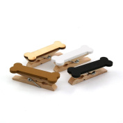 Wooden Photo Paper Clothespin Clips 12 pcs