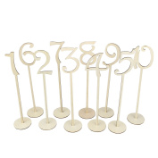 OULII Wedding Table Number Holders with Holder Base 1-10,10pcs