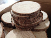 Sorive® Unpainted Natural Round Blank Wood Slices for Arts & Crafts, Home Hanging Decorations, Event Ornaments