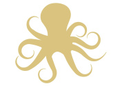 Octopus Style 2 Unfinished MDF Wood Cutout Variety of Sizes USA Made Nautical Decor