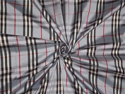 BLUE,BLACK,IVORY,MAROON COLOUR PLAIDS~SILK DUPIONI FABRIC~WIDTH 54 - Hobbies,Home decor,Sewing,Fashion,Doll Dress,Furnishing,Interior.