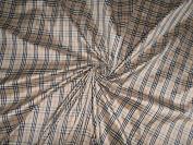 RICH BEIGE/BLACK/WHITE COLOUR PLAIDS~ DUPIONI FABRIC 150cm - Hobbies,Home decor,Sewing,Fashion,Doll Dress,Furnishing,Interior.