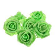 OULII Rose Fake Flower Heads Home Wedding Party Decorations 50pcs