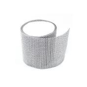 Koyal Silver Diamond Rhinestone Ribbon Wrap 11cm W x 90cm L