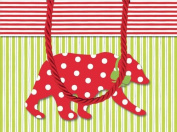 Small Gift Bag Northern Lights design. 18cm x 7.6cm x 13cm