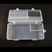 5 PCS Arts Crafts Sewing Organisation Storage Transport Boxes Organisers Clear Beads Tackle Box Case N0886