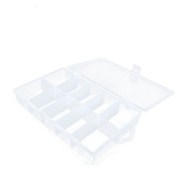 10 PCS Arts Crafts Sewing Organisation Storage Transport Boxes Organisers Clear Beads Tackle Box Case 294LS