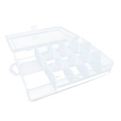 1 PC Arts Crafts Sewing Organisation Storage Transport Boxes Organisers Clear Beads Tackle Box Case 774GE