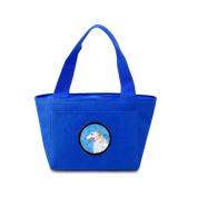 Caroline's Treasures SS4751-BU Borzoi Lunch or Doggie Bag, Large, Blue