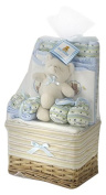 Big Oshi Baby Essentials 10 Piece Layette Basket Gift Set, Blue