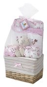 Big Oshi Baby Essentials 10 Piece Layette Basket Gift Set, Pink