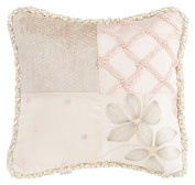 Glenna Jean Florence Pillow Patch, Grey/Cream/Pink/Taupe
