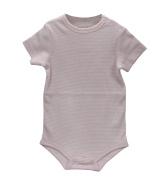 Little Kiddo Baby Unisex Toddlers Stripe Cotton Short Sleeve Bodysuit Onesies Pink