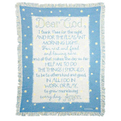 Dicksons Dear God I Thank Thee Cotton Throw Blanket for Boy, Blue
