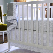 100% Cotton, Dove Grey Stems Crib Shee, 130cm x 70cm