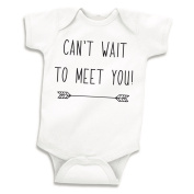 Can't Wait to Meet You, Pregnancy Announcement, Newborn Clothes