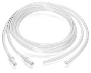 Pumpables Breast Pump Tubing - Single Connector [Double Pack] - Use With Spectra Dew 350 & 300, Medela Pump In Style, & More