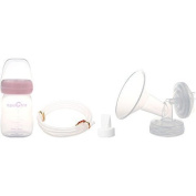 Original SpeCtra Breast Pump PREMIUM Flange Kit w/ Bottle and Nipple for SpeCtra S1, S2, S9, and M1 Breast Pumps - (Size