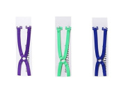 AUCH 3Pcs (Green/Dark Blue/Purple) Non-slip Elastic Adjustable Women's Cross Back Ring Bra Straps Holder