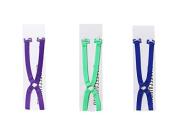 AUCH 3Pcs (Green/Dark Blue/Purple) Non-slip Elastic Adjustable Women's Cross Back Ring Bra Straps Holder