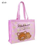 Rilakkuma Big plastic tote bag / relaxing cat PINK colour