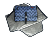 Portable Changing Pad - Premium Quality Travel Changing Station Kit - Nappy Clutch and Nappy Caddy - works as Change Mat , Changer Table and Nappy Bag - Best of Baby Shower Gifts ! - Dark Blue