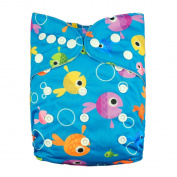 New Reusable Washable One Size Baby Bamboo Nappy Nappy + 1 Bamboo Insert
