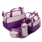 eonkoo 5 Pcs Baby Nappy Tote Bag Kids Pad Nappy Changing Shoulder Bottle Handbag Backpack Travel Shopping