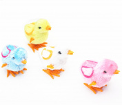 Branew 4Pcs Colour Green Blue Yello White Clockwork Toys Cute Chicken Little Toys