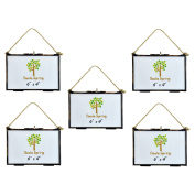 Nicola Spring Hanging Glass Vintage Photo Frame With Rope - 6x4 Photos - Pack Of 5