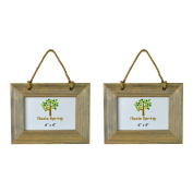 Nicola Spring Wooden Hanging Photo Picture Frame - 15cm x 10cm - Pack Of 2