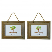 Nicola Spring Wooden Hanging Photo Picture Frame - 18cm x 13cm - Pack Of 2