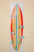 Surfboard Growth Chart with Reusable Height Stickers. Keepsake Box. Girl/Boy.