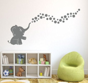 A Cute Elephant Vinyl Wall Decal Sticker Spray Bubbles DIY Wall Decor for Baby Nursery Wall Decal Home Decor