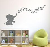 A Cute Elephant Vinyl Wall Decal Sticker Spray Bubbles DIY Wall Decor for Baby Nursery Wall Decal Home Decor