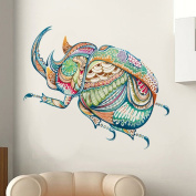 LiveGallery Cute Cartoon Colourful Beetle Wall Stickers Murals Removable Vinyl Insects Animals Wall Decals Decor for Nursery Room Kids boys Children Bedroom Living Room Background Decorations