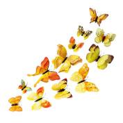 MChoice 12x 3D Butterfly Wall Sticker Fridge Magnet Room Decor