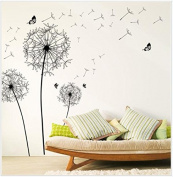 MChoice New Design Dandelion Wall Sticker Art Decals PVC Wall Decoration