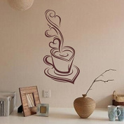 MChoice Coffee Art Vinyl Mural Removable Decal e Room Decor Wall Sticker