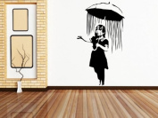 Banksy Girl with Umbrella wall sticker (Large