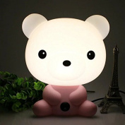 Novelty PVC Plastic Baby Bedroom Night Light Cartoon Animal Rabbit Sleep LED Table 3D Lamp Bulb Nightlight for Children