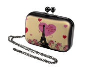 Paris Clutch hand clutch shoulder bag with Chain Strap included